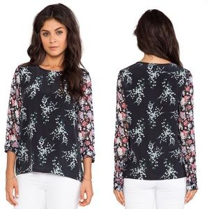 Equipment Femme Liam Elevated Bloom Blouse Size L